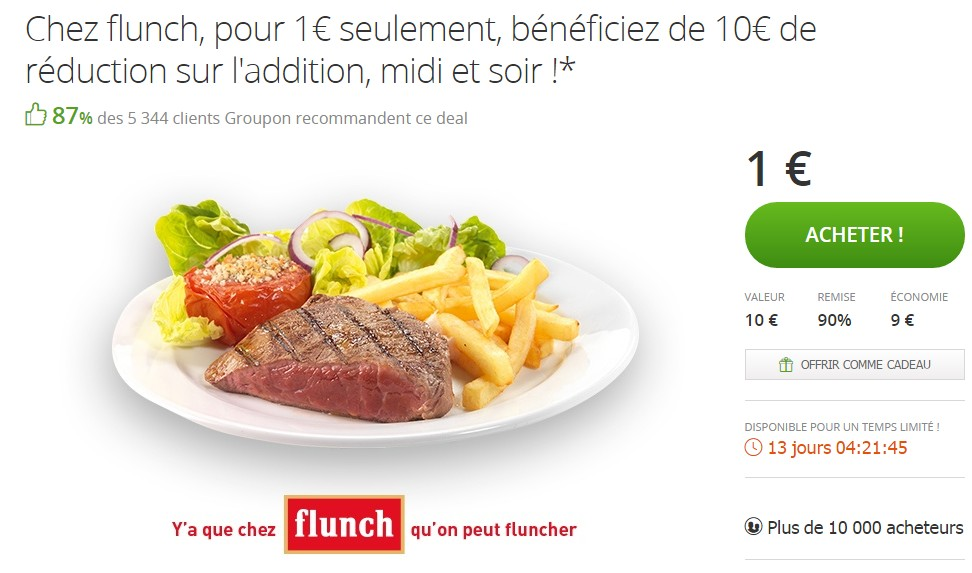Coupons reduction flunch