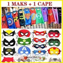 Cape de superhero pour enfant avec masque assortis