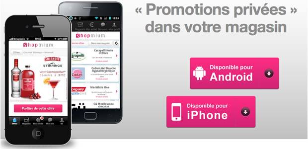 Shopmium, disponible sur Playstore et Apple Store